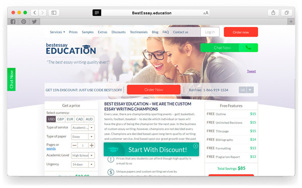 bestessay education review coupon codes and benefits bestessay education screenshot