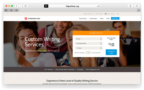 Top 1 custom essay writing services ranked by students